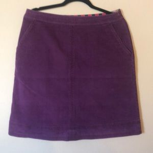 Boden knee length Skirt US 10 R purple corduroy